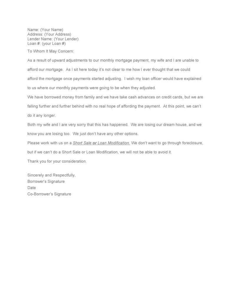 Hardship Letter Sample 22