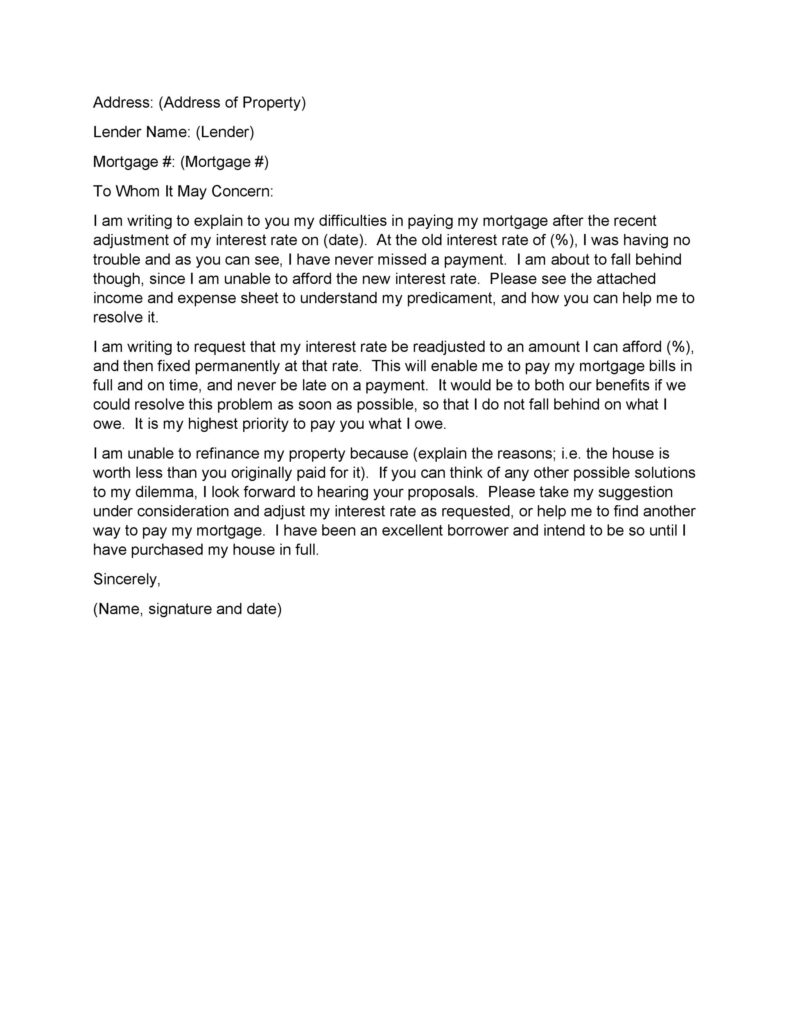 Hardship Letter Sample 24