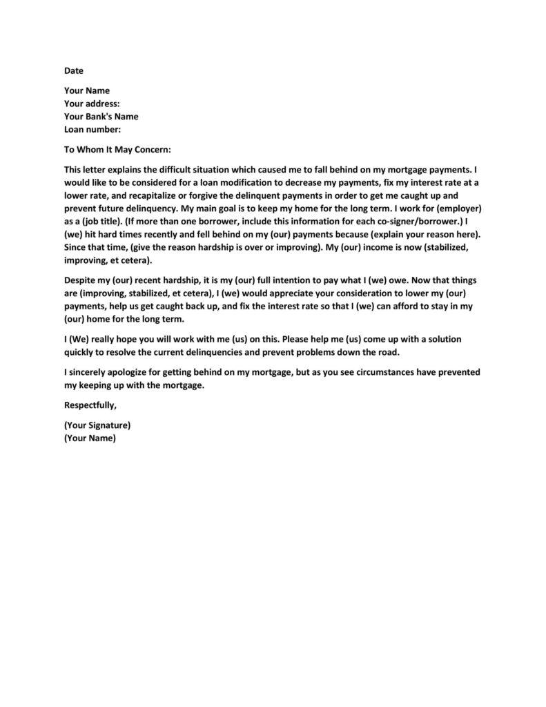 Hardship Letter Template 14
