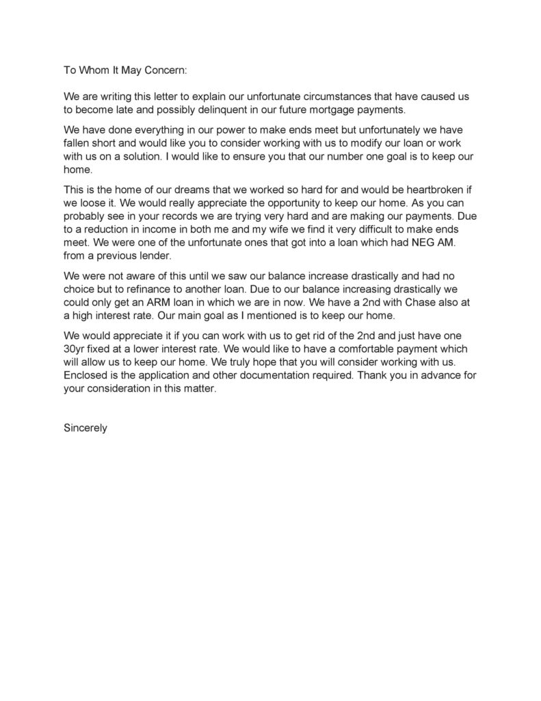 Hardship Letter Template 15