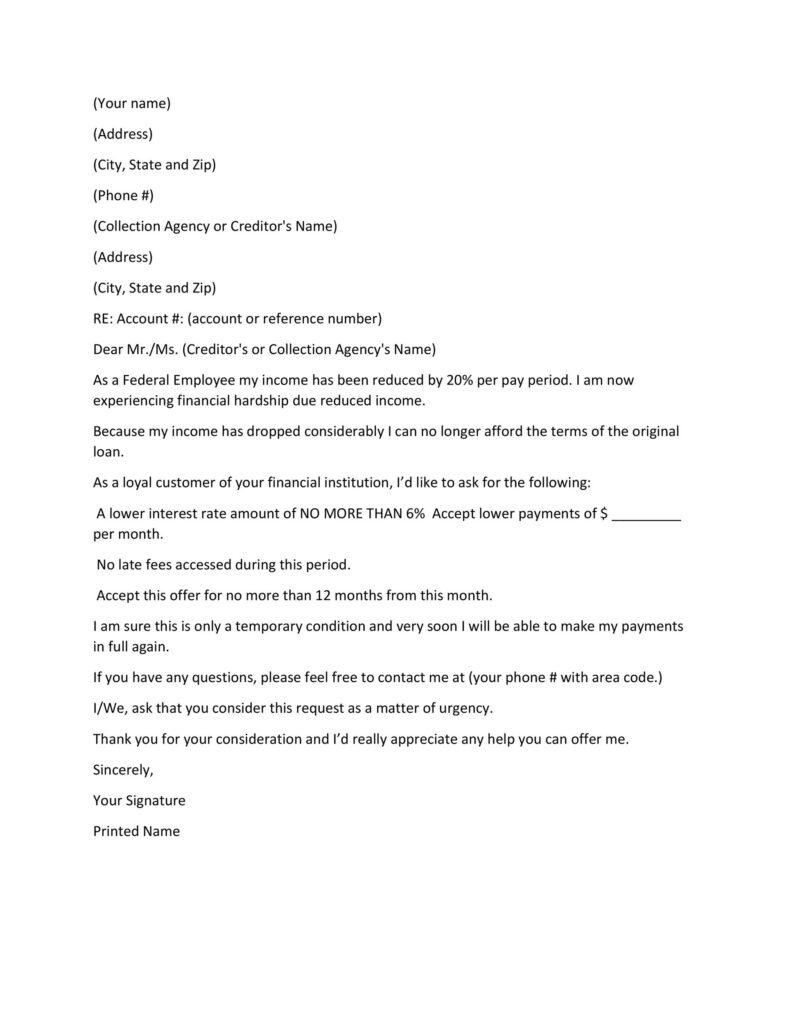 Hardship Letter Template 26