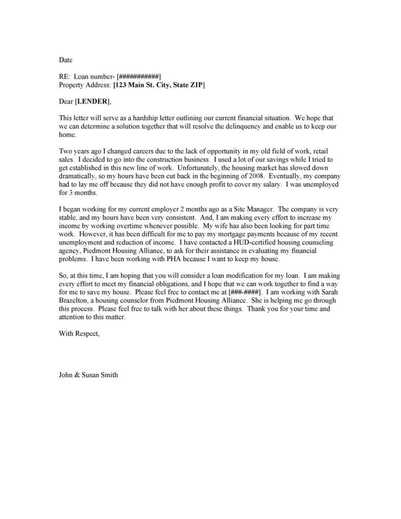 Hardship Letter Template 30