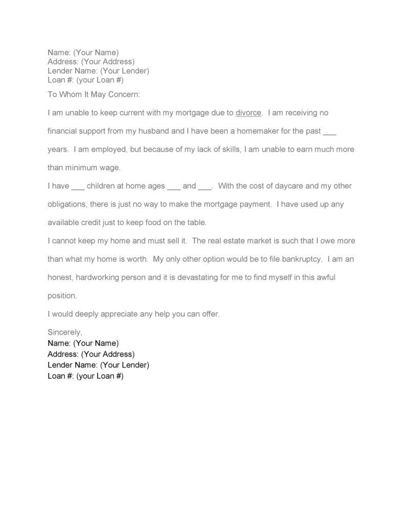 Hardship Letter Template 33