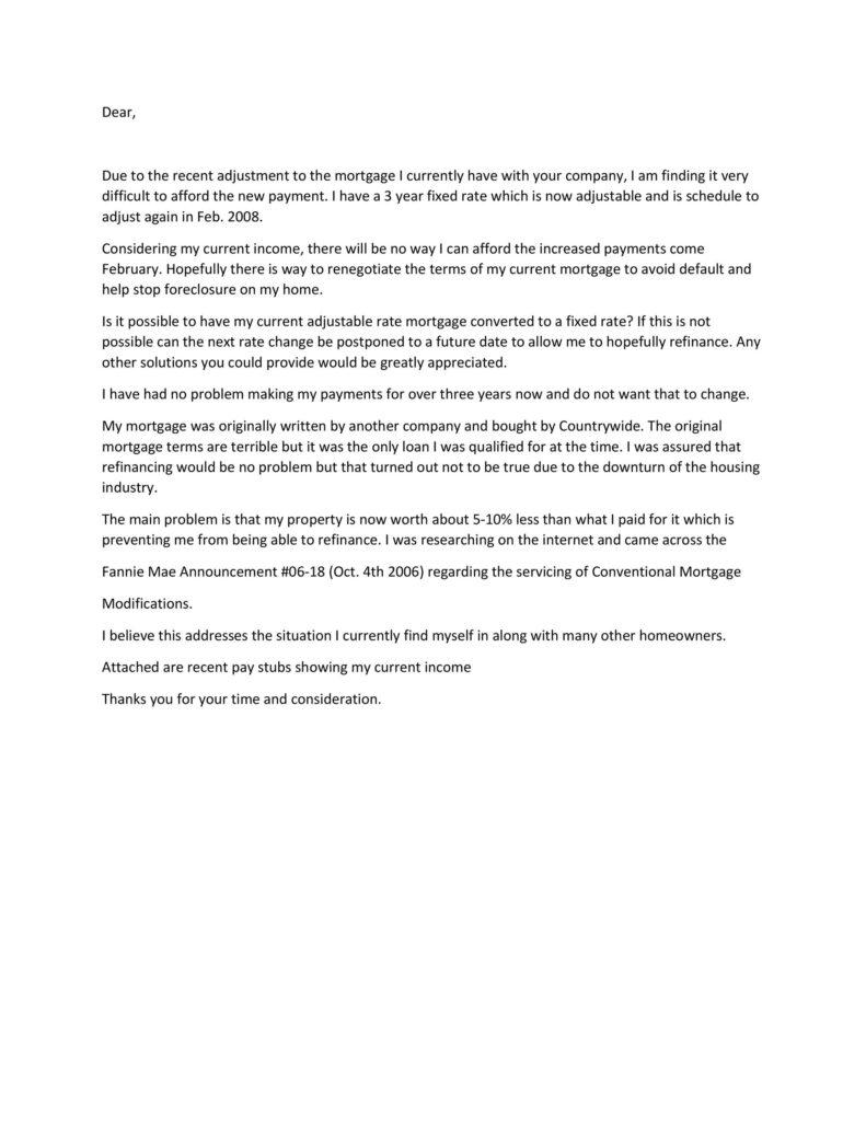 Hardship Letter Template 35