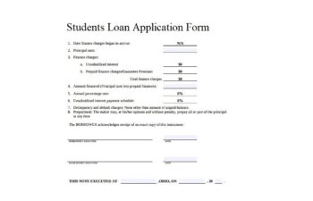 Images Students Loan Application Form
