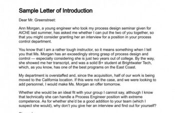 Letter of Introduction Images