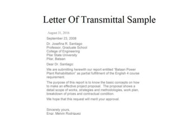 Letter of Transmittal Images