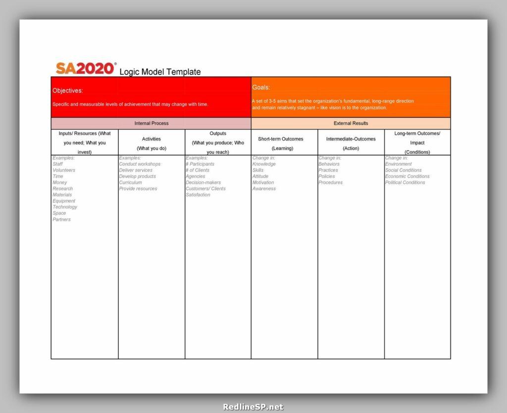 Logic Model Template 03