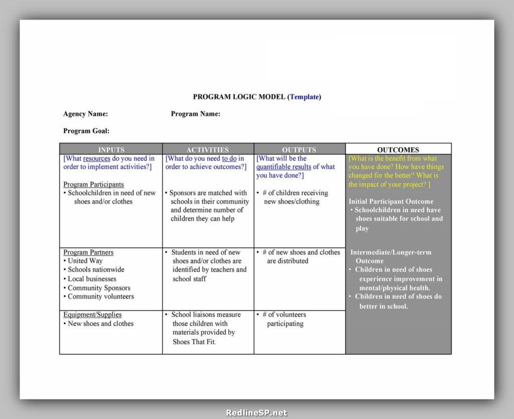 Logic Model Template 38