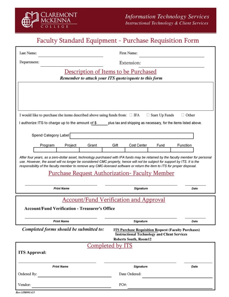 Material Requisition Form 34