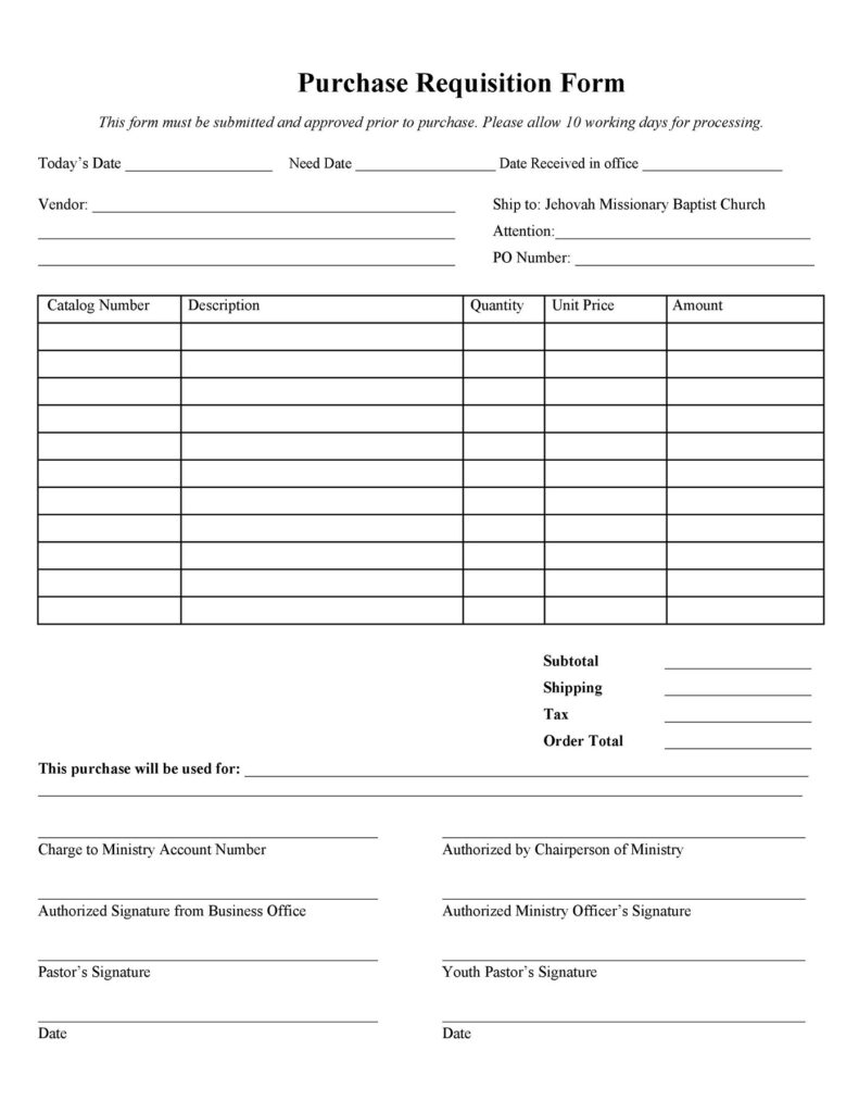 Material Requisition Form 36