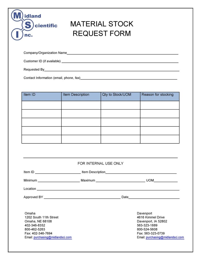 Material Requisition Form 43