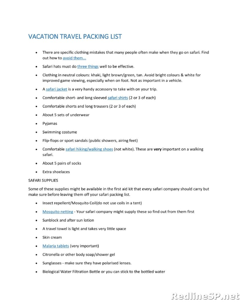Packing List 05