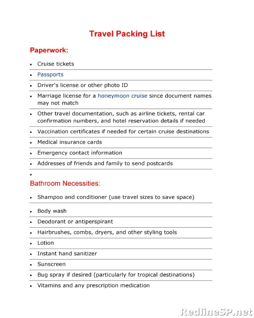 Packing List 07