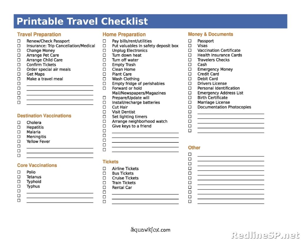 Packing List Sample 25