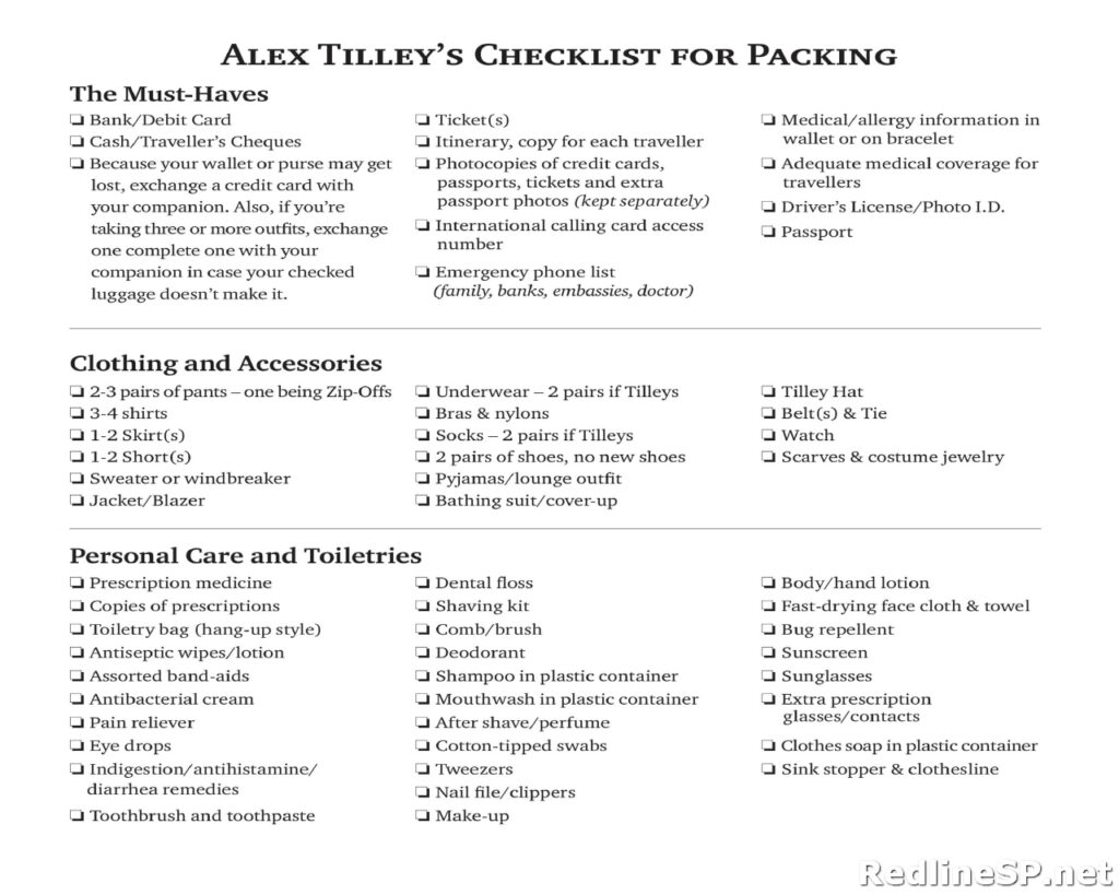 Packing List Sample 26