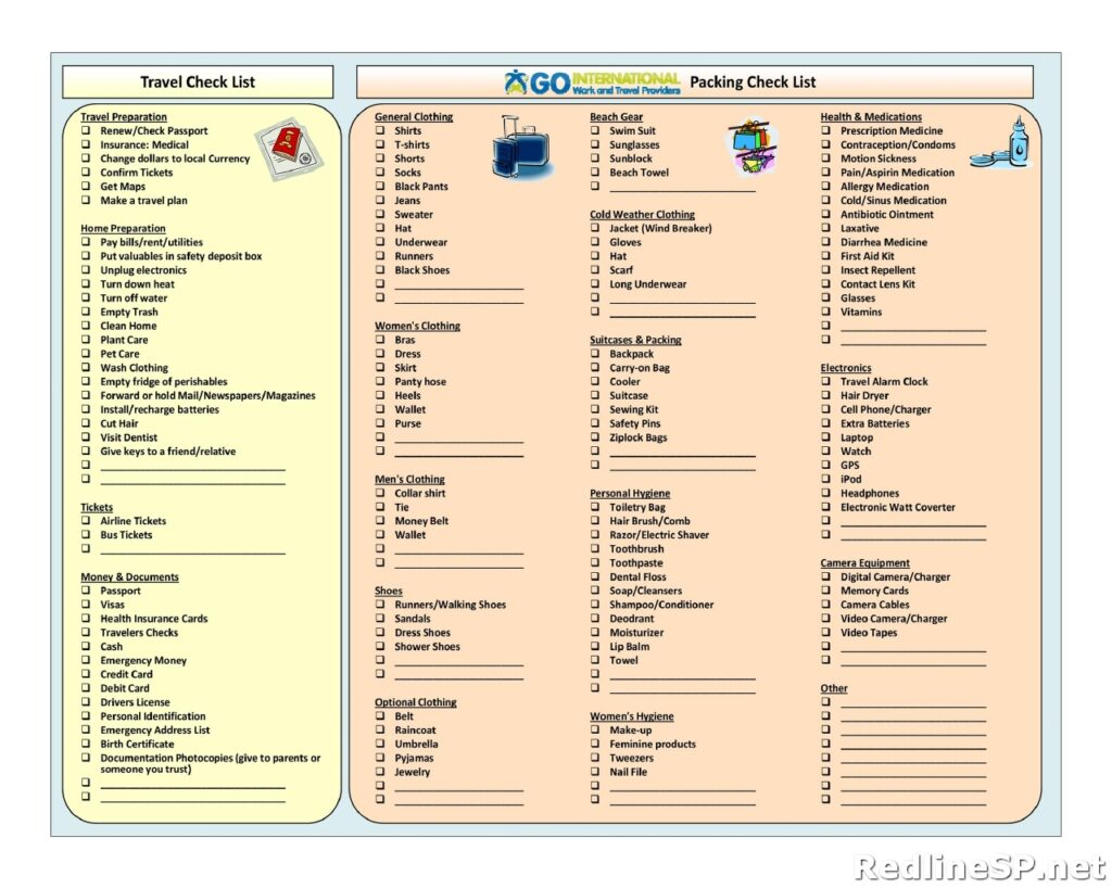 Packing List Sample 29