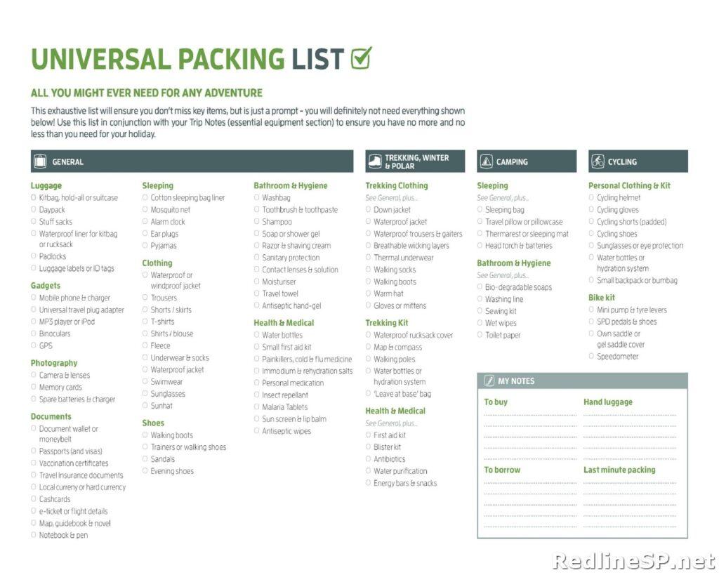 Packing List Sample 41