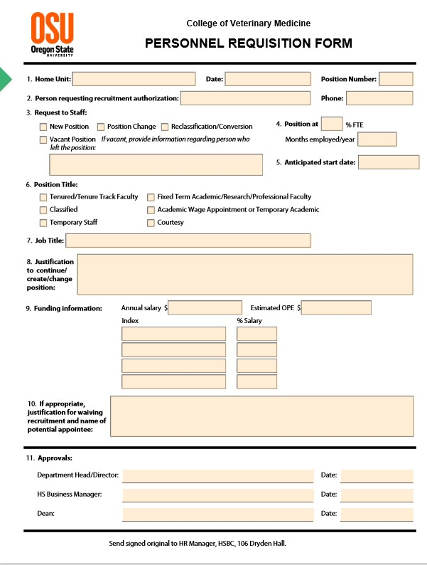 Personnel Requisition Form 01