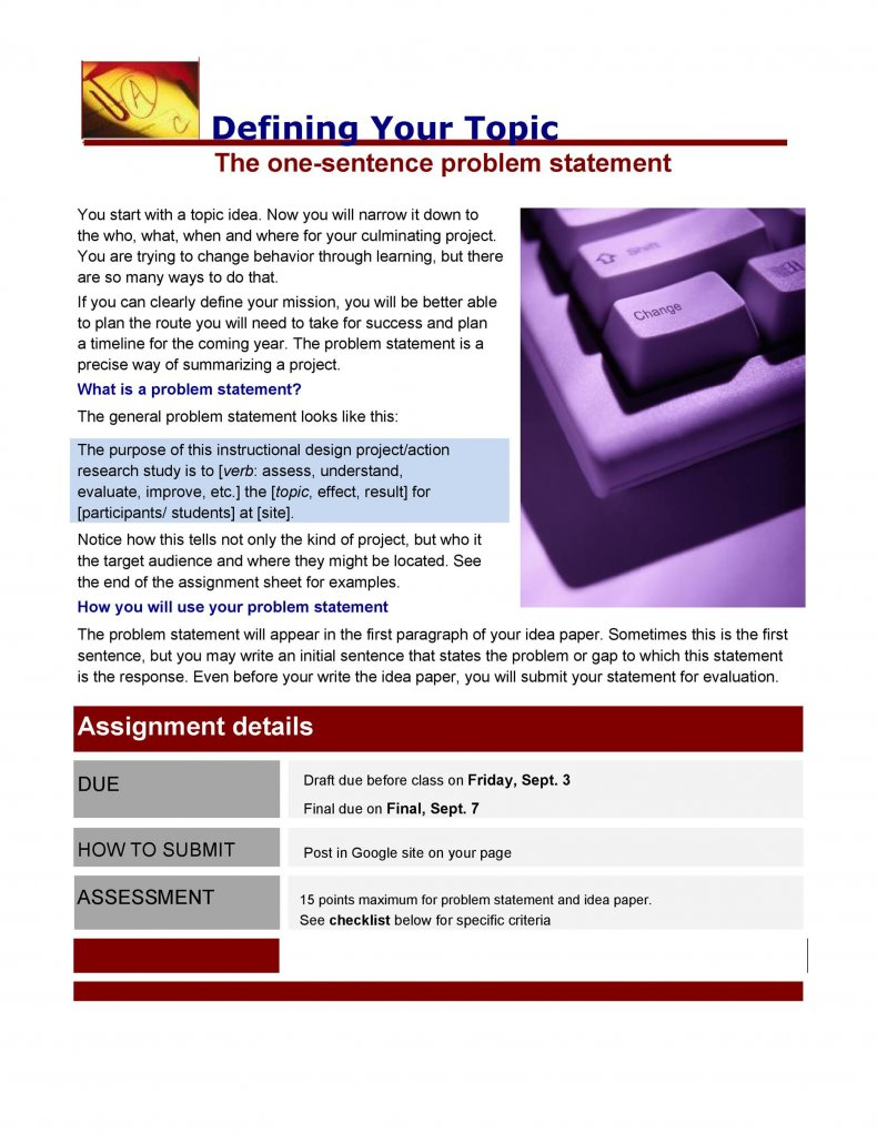 Problem Statement 01
