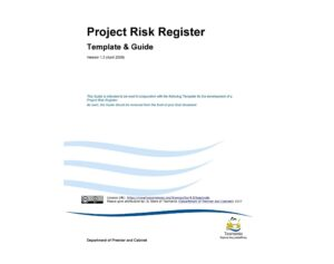 Project Risk Register Template 01