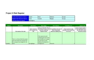 Project Risk Register Template 06