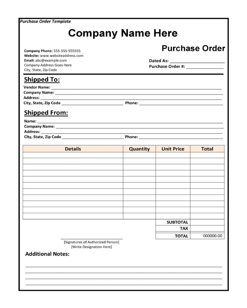 Purchase Order 03