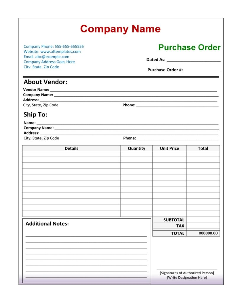Purchase Order 08