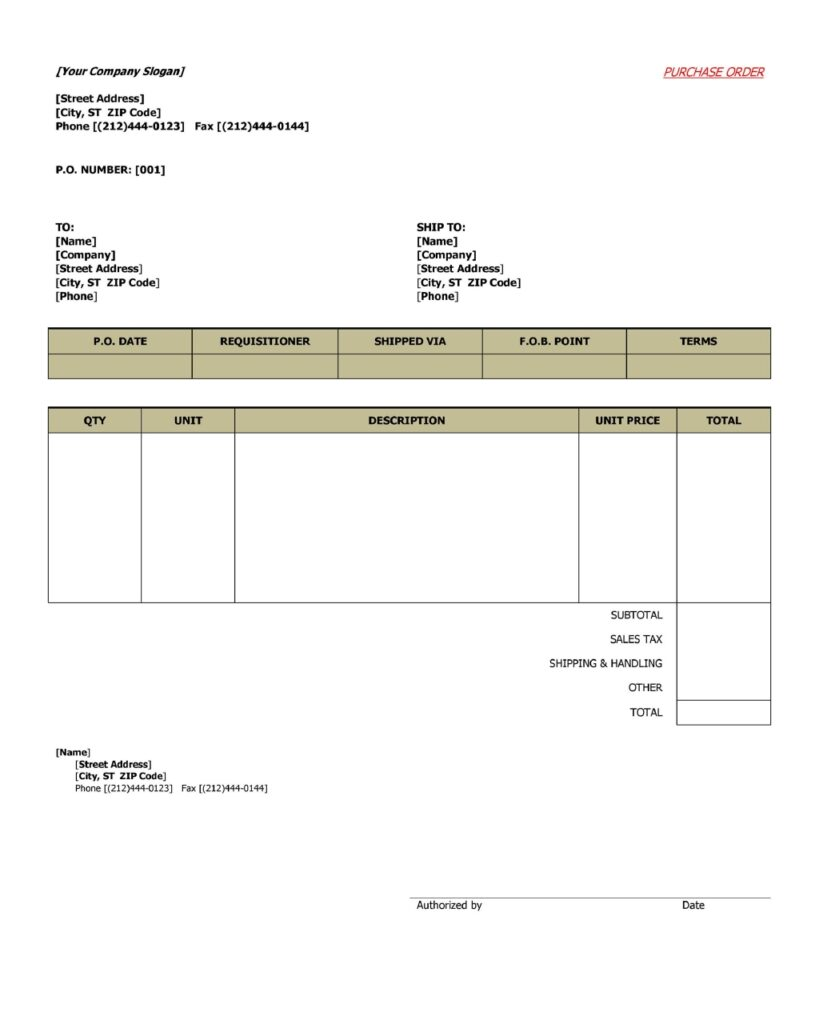 Purchase Order 10