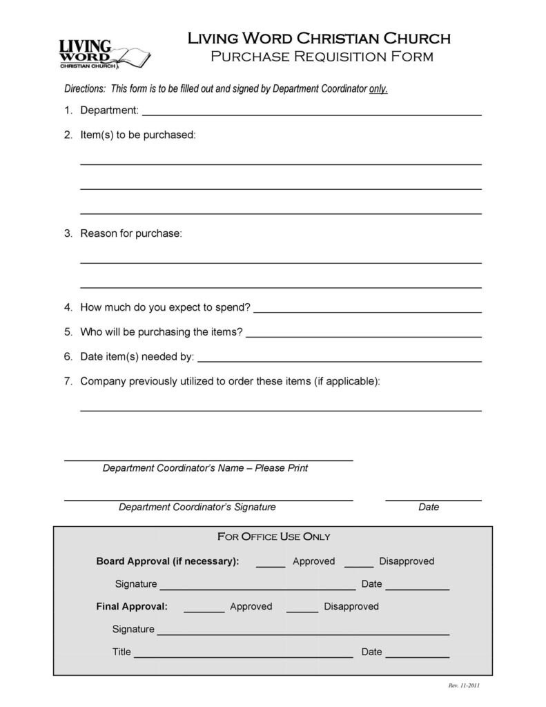 Purchase Requisition Form 26