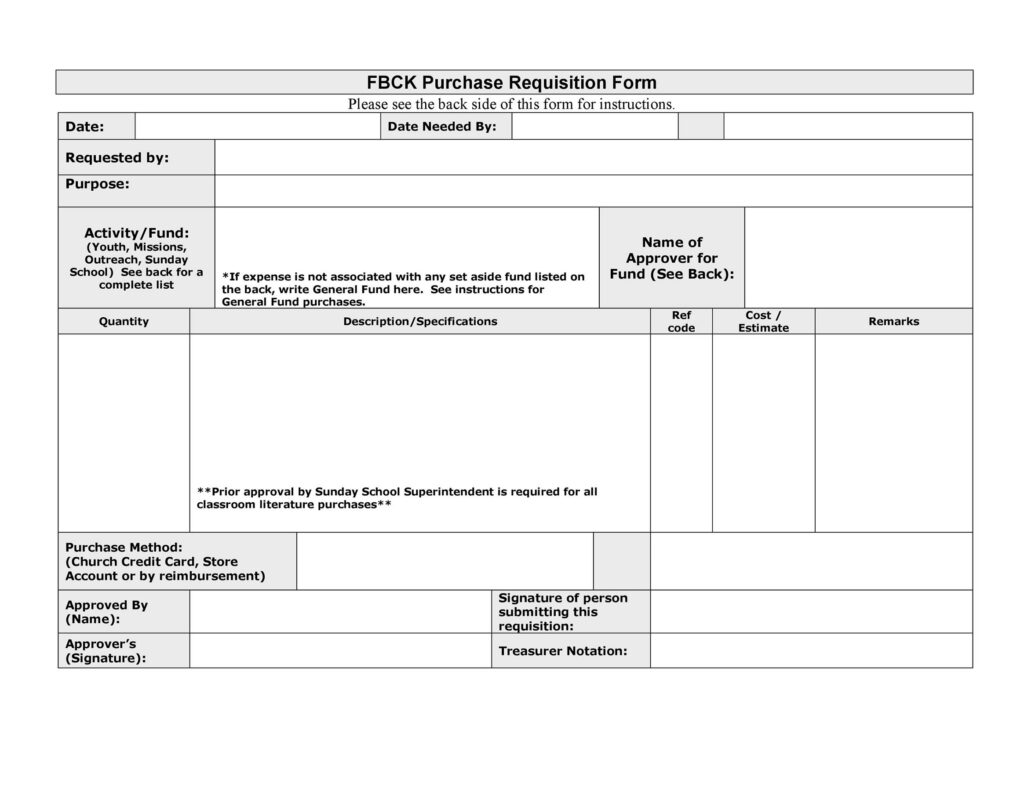 Purchase Requisition Form 29