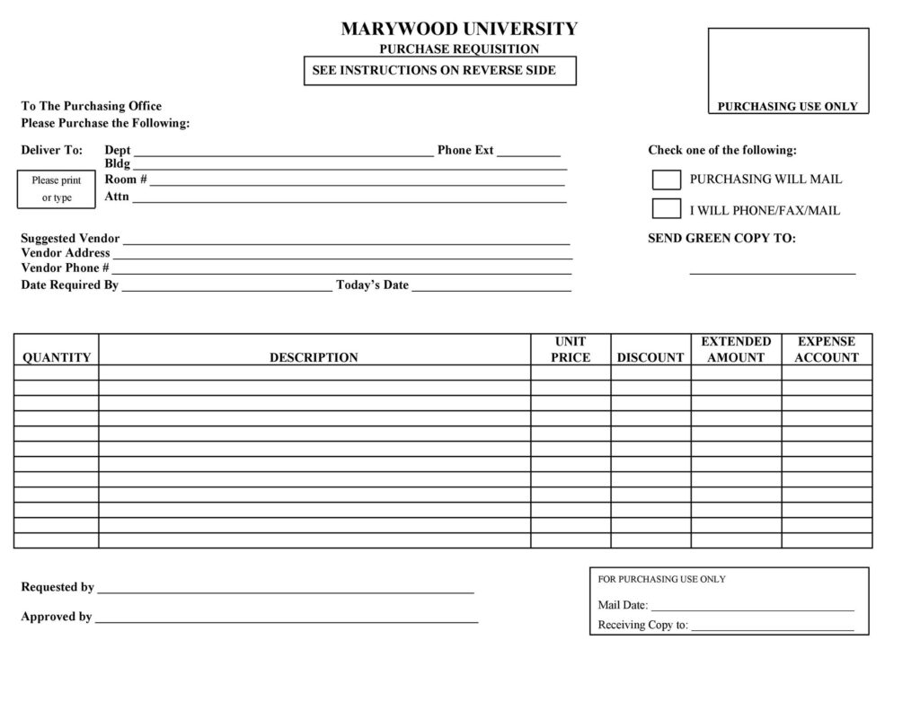 Purchase Requisition Form 35