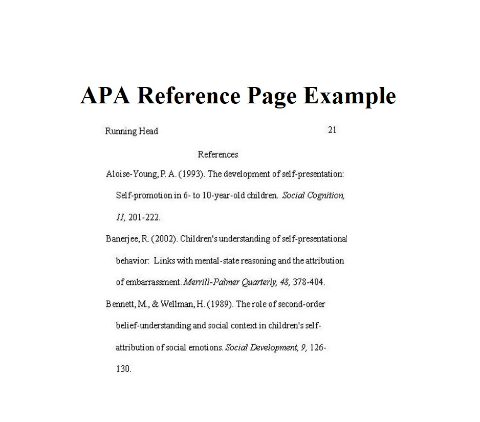Reference Page APA Format 04