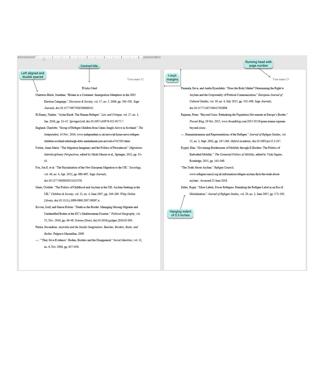 Reference Page MLA Format 03