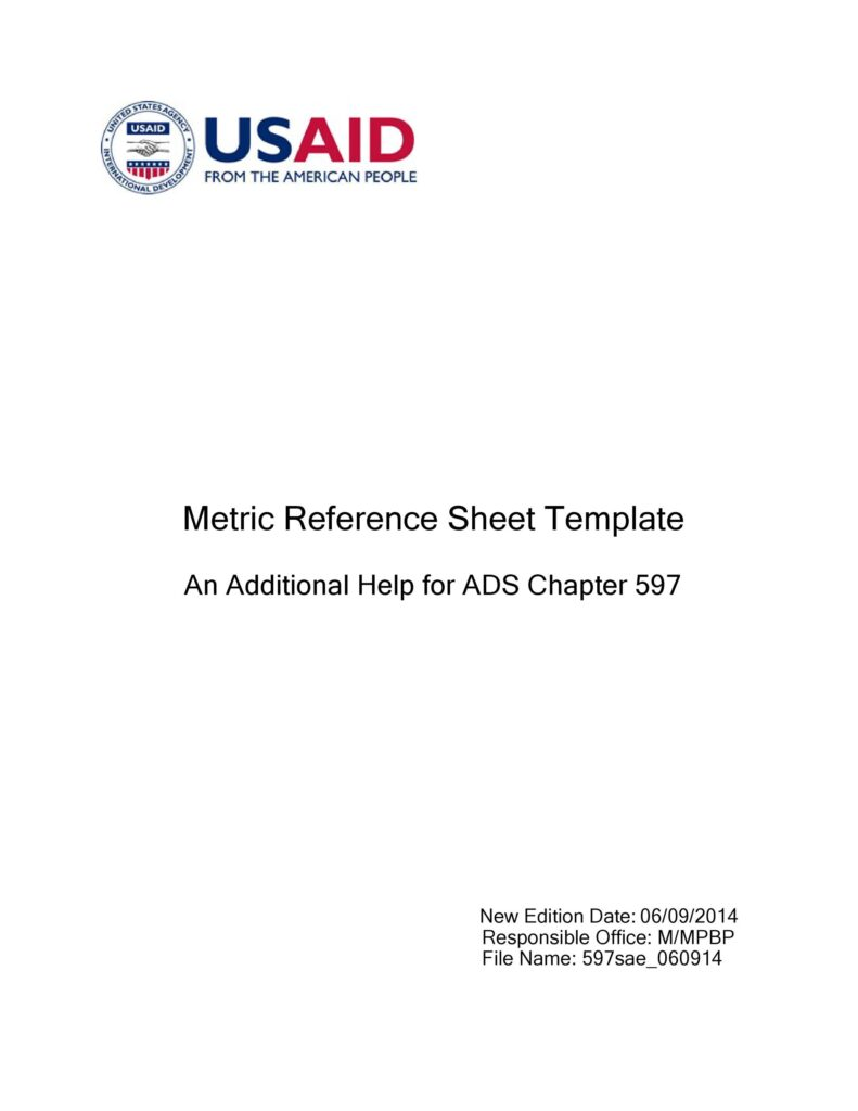 Reference Sheet Template 20