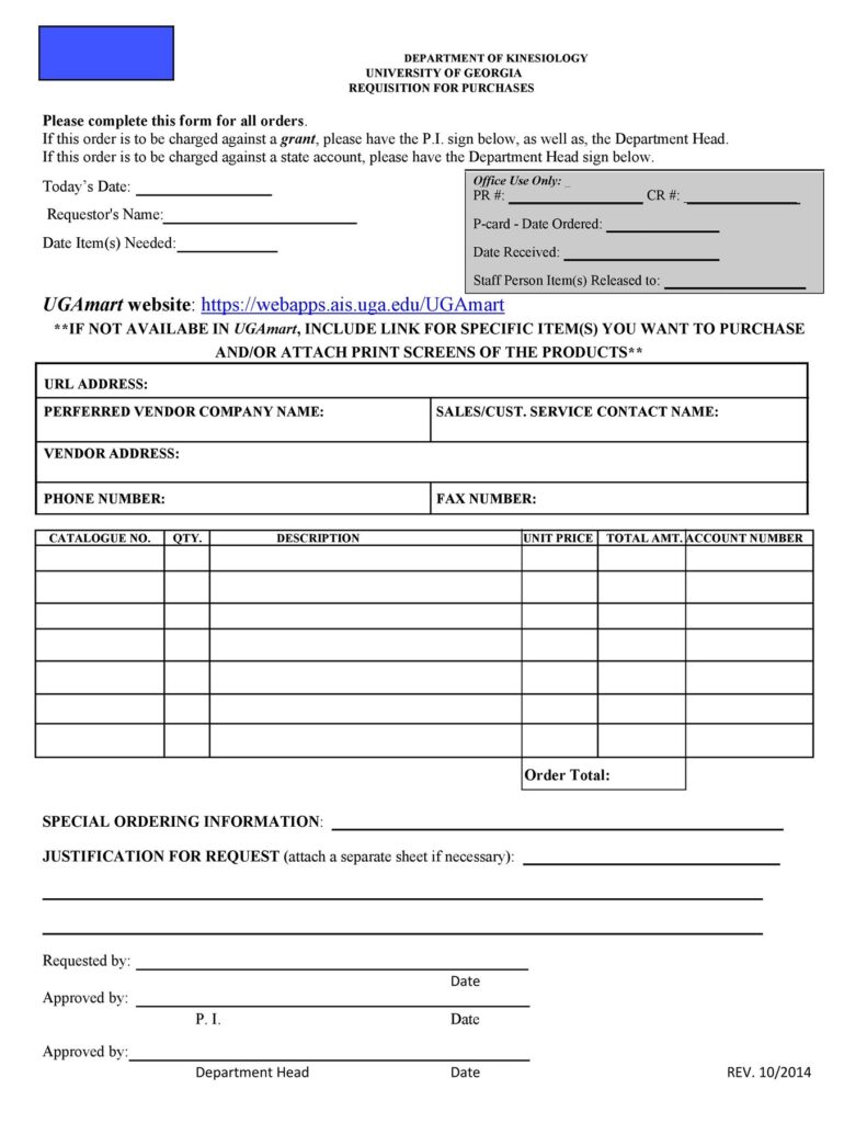 Requisition Form Template 17