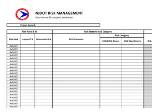 Risk Analysis Template Excel 07