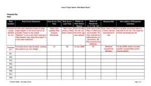 Risk Analysis Template Excel 08