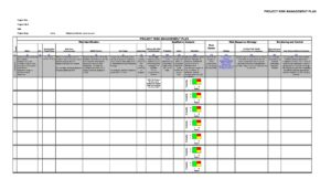 Risk Analysis Template Excel 10