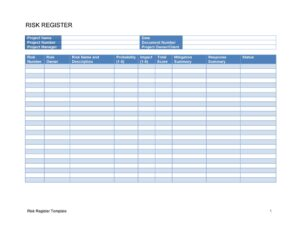 Risk Register 10