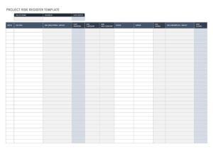 Risk Register Template Excel 30