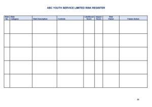 Risk Register Template Excel 31