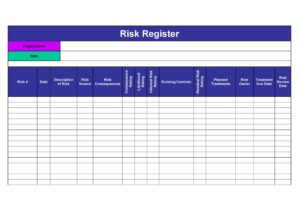 Risk Register Template Excel 33