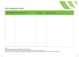 Risk Register Template Excel 43