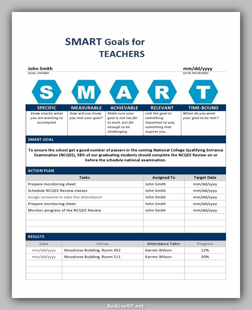 SMART Goals for Teacher