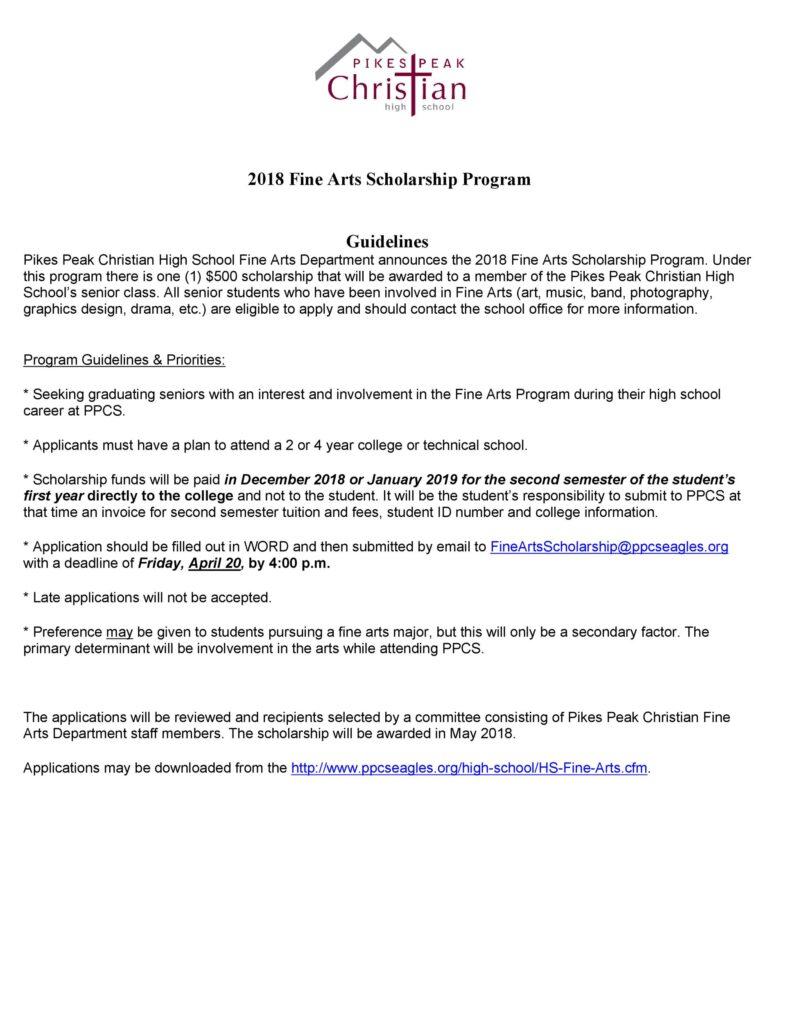 Scholarship Application Example 39