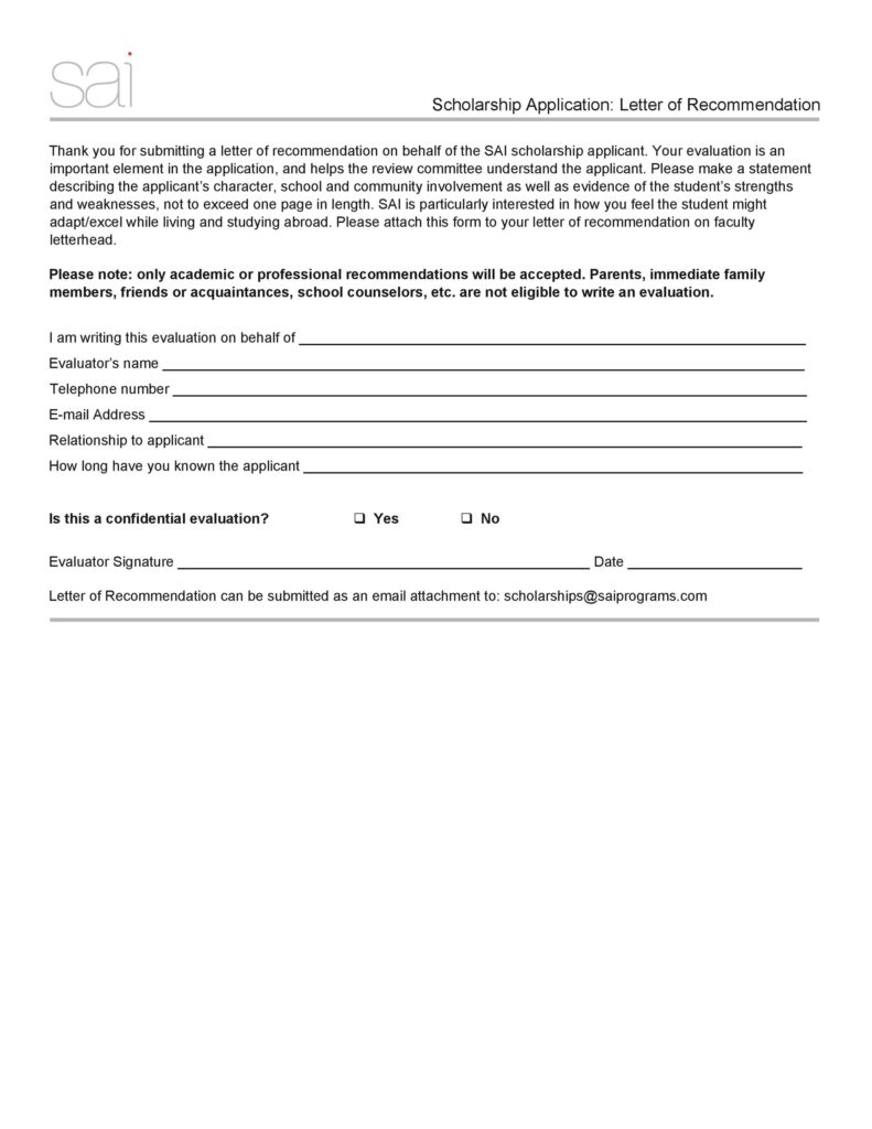 Scholarship Application Letter 27