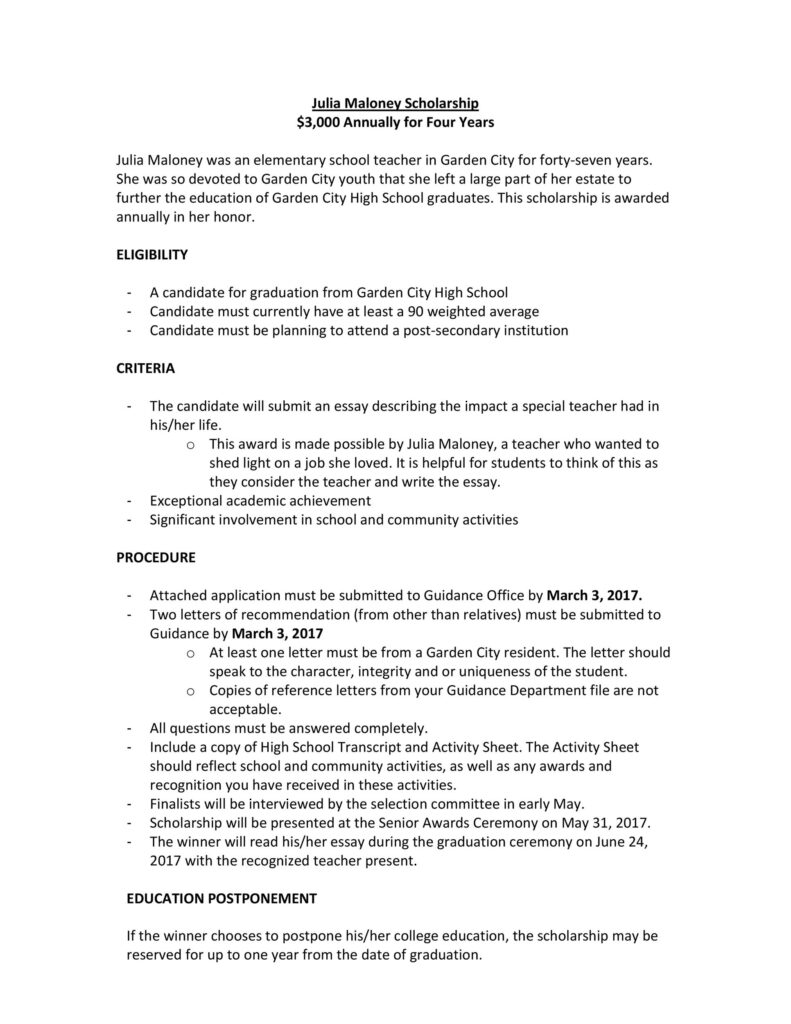 Scholarship Application Template 07