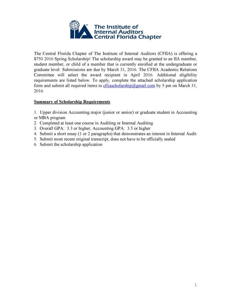 Scholarship Application Template 10