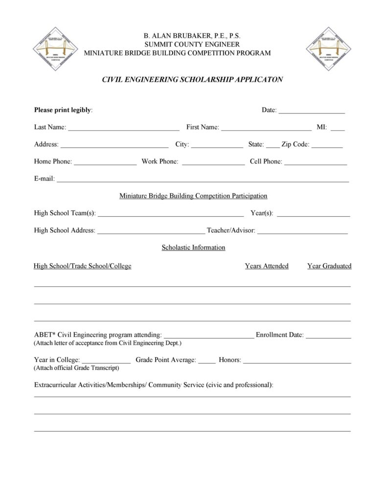 Scholarship Application form 24